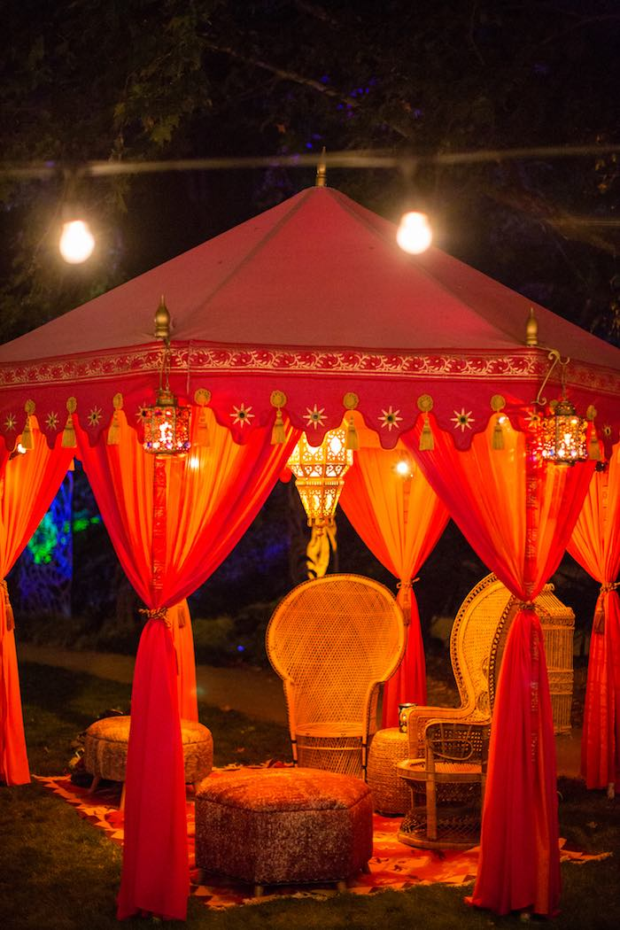 Bohemian Tent from a Boho Hippie Summer of Love Birthday Party on Kara's Party Ideas   KarasPartyIdeas.com (13)