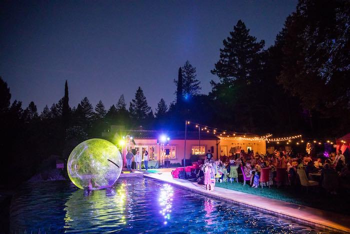 Acrobatic Light Show from a Boho Hippie Summer of Love Birthday Party on Kara's Party Ideas   KarasPartyIdeas.com (11)