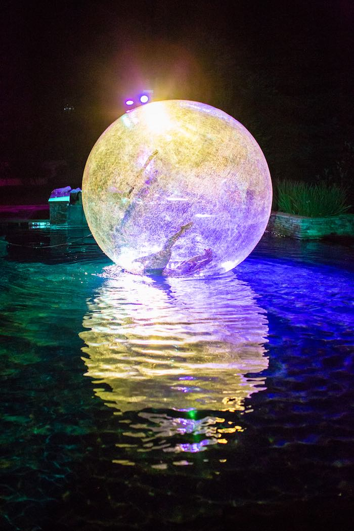 Acrobatic Light Show from a Boho Hippie Summer of Love Birthday Party on Kara's Party Ideas   KarasPartyIdeas.com (10)