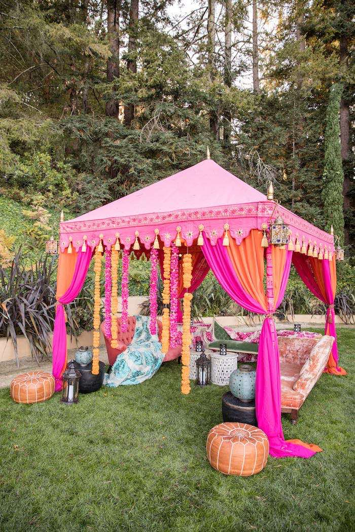 Bohemian Tent Lounge from a Boho Hippie Summer of Love Birthday Party on Kara's Party Ideas | KarasPartyIdeas.com (33)