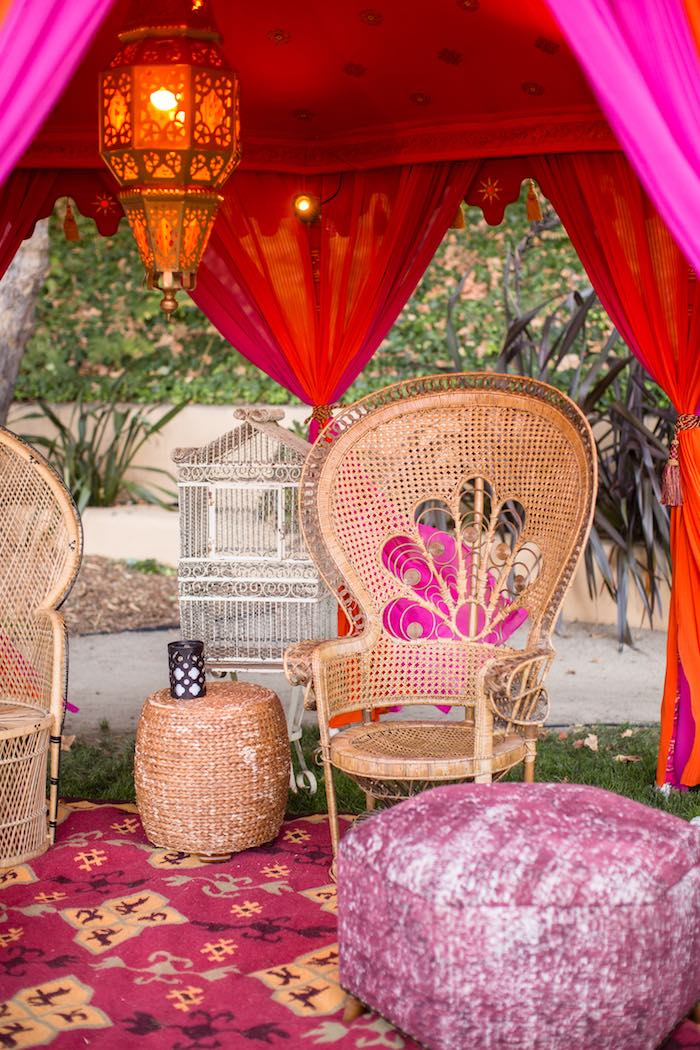 Bohemian Lounge + Chairs from a Boho Hippie Summer of Love Birthday Party on Kara's Party Ideas | KarasPartyIdeas.com (31)