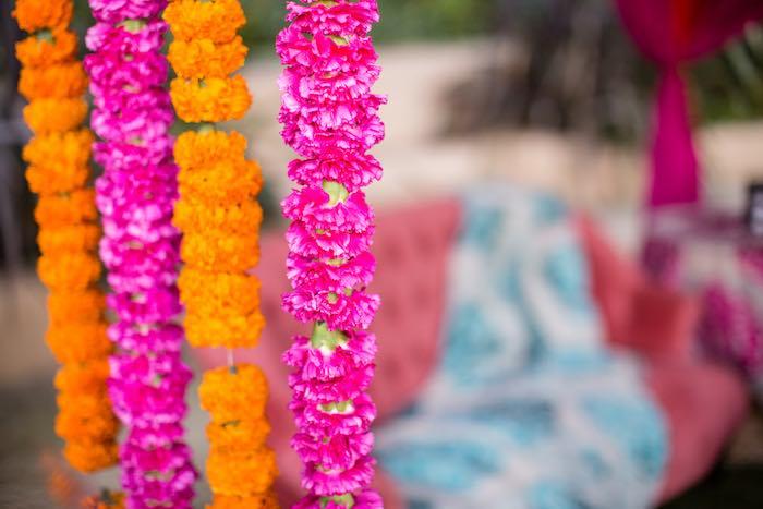 Flower Garland Curtain from a Boho Hippie Summer of Love Birthday Party on Kara's Party Ideas   KarasPartyIdeas.com (28)