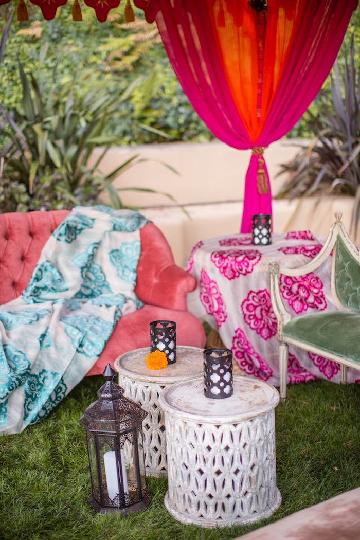 Boho Lounge from a Boho Hippie Summer of Love Birthday Party on Kara's Party Ideas | KarasPartyIdeas.com (27)