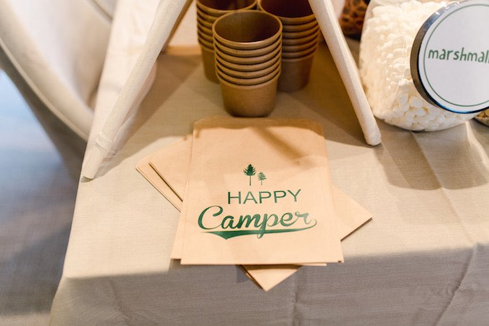Buffalo Check Camping Birthday Party on Kara's Party Ideas | KarasPartyIdeas.com (34)