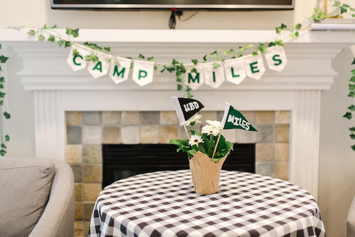 Buffalo Check Camping Birthday Party on Kara's Party Ideas | KarasPartyIdeas.com (32)
