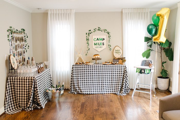 Buffalo Check Camping Birthday Party on Kara's Party Ideas | KarasPartyIdeas.com (30)