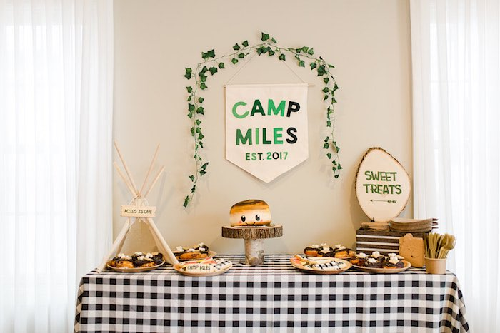 Buffalo Check Camping Birthday Party on Kara's Party Ideas | KarasPartyIdeas.com (29)