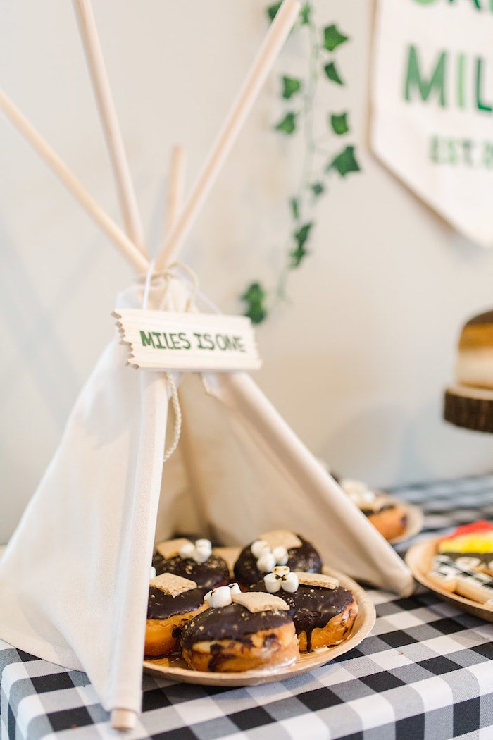 Buffalo Check Camping Birthday Party on Kara's Party Ideas | KarasPartyIdeas.com (28)