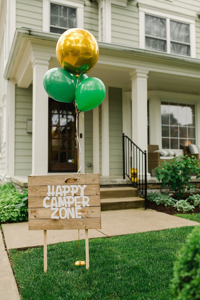 Buffalo Check Camping Birthday Party on Kara's Party Ideas | KarasPartyIdeas.com (15)