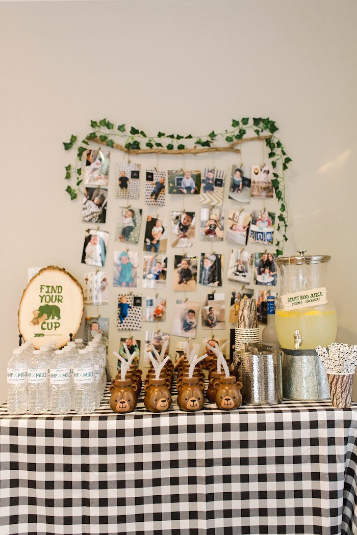 Buffalo Check Camping Birthday Party on Kara's Party Ideas | KarasPartyIdeas.com (11)