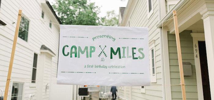 Buffalo Check Camping Birthday Party on Kara's Party Ideas   KarasPartyIdeas.com (4)