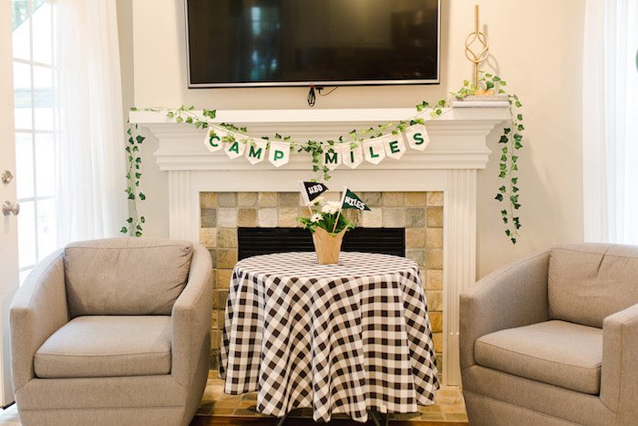 Buffalo Check Camping Birthday Party on Kara's Party Ideas | KarasPartyIdeas.com (40)