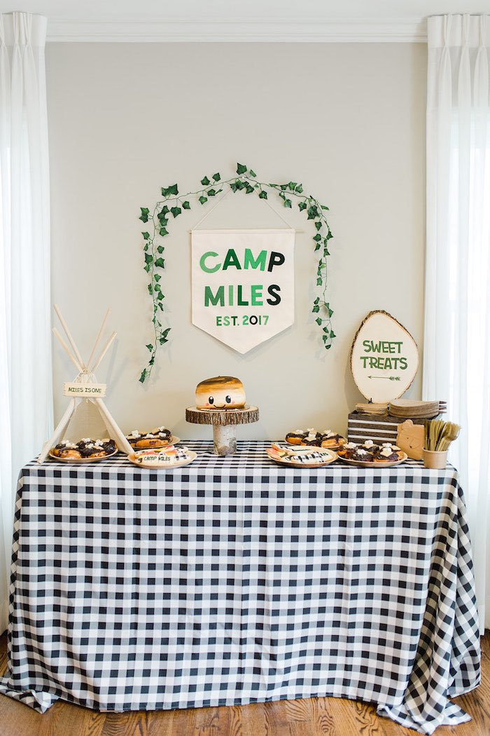 Buffalo Check Camping Birthday Party on Kara's Party Ideas | KarasPartyIdeas.com (39)