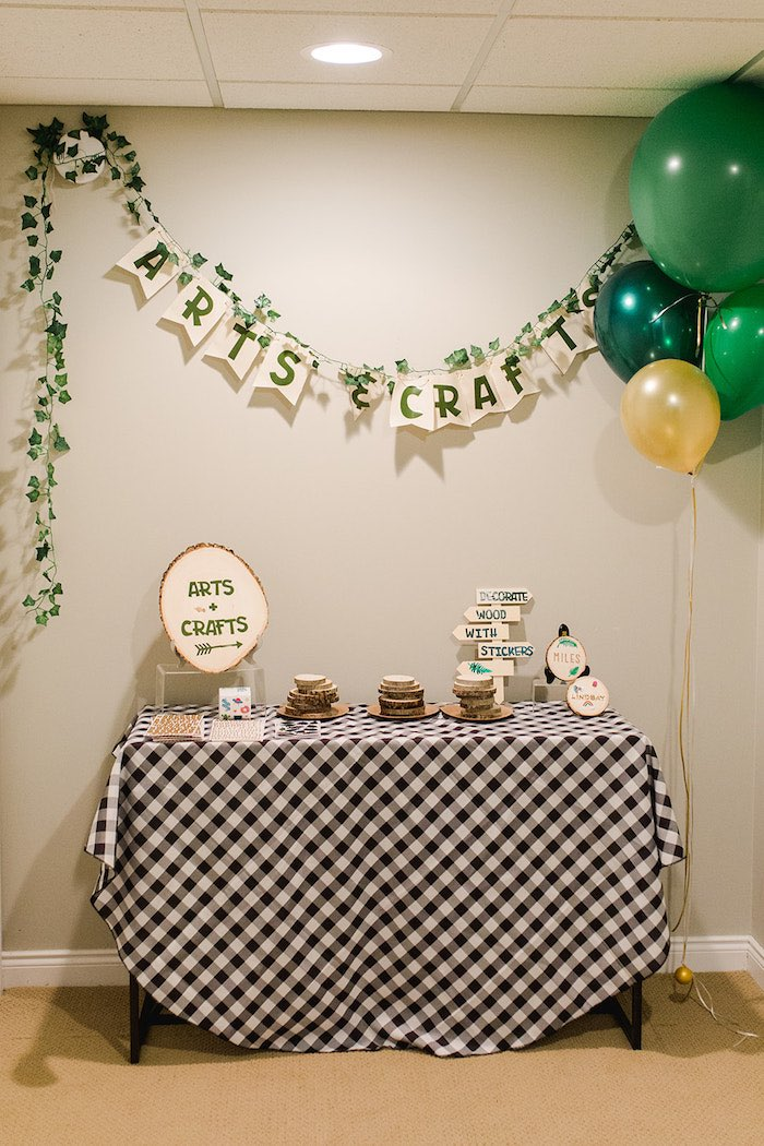 Buffalo Check Camping Birthday Party on Kara's Party Ideas | KarasPartyIdeas.com (38)