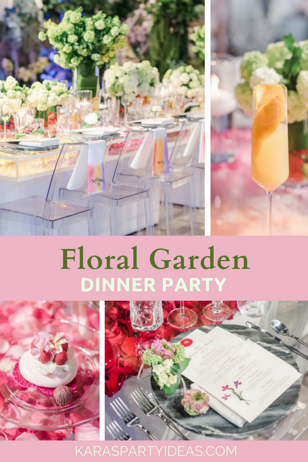 Floral Garden Dinner Party via Kara's Party Ideas - KarasPartyIdeas.com