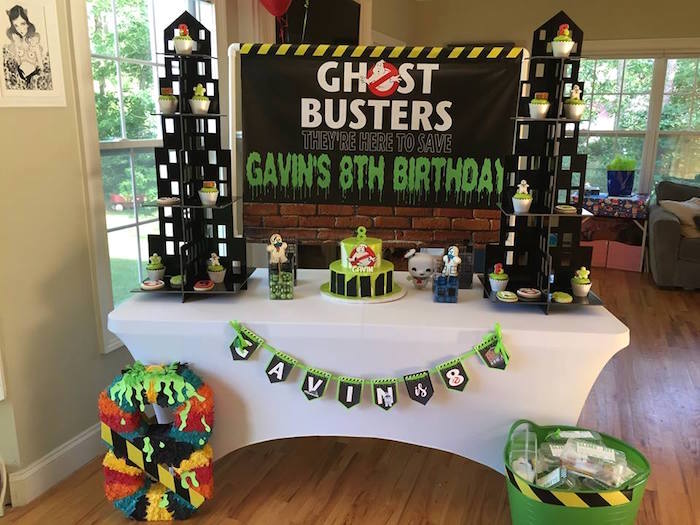 Ghostbusters Party Table from a Ghostbusters Birthday Party on Kara's Party Ideas | KarasPartyIdeas.com (9)