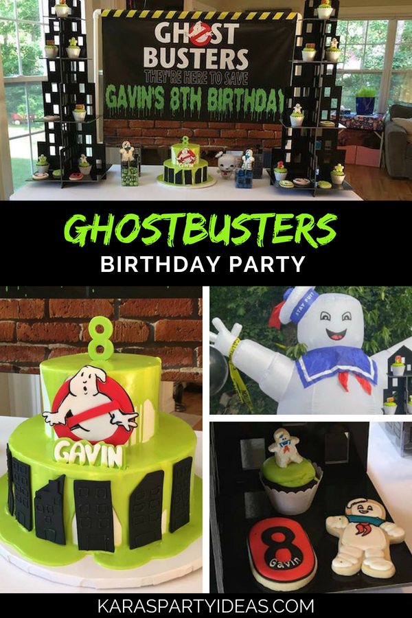 Ghostbusters Birthday Party via Kara's Party Ideas - KarasPartyIdeas.com
