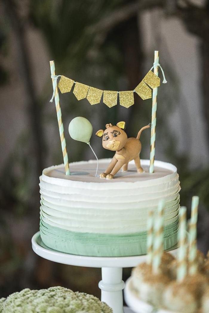 Jungle Ribbon Cake from a Glam Jungle Birthday Party on Kara's Party Ideas | KarasPartyIdeas.com (18)