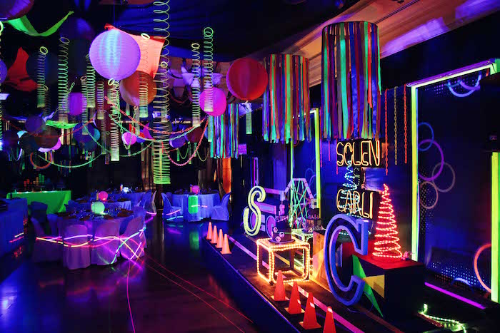 Glow-in-the-Dark Birthday Party on Kara's Party Ideas | KarasPartyIdeas.com (20)