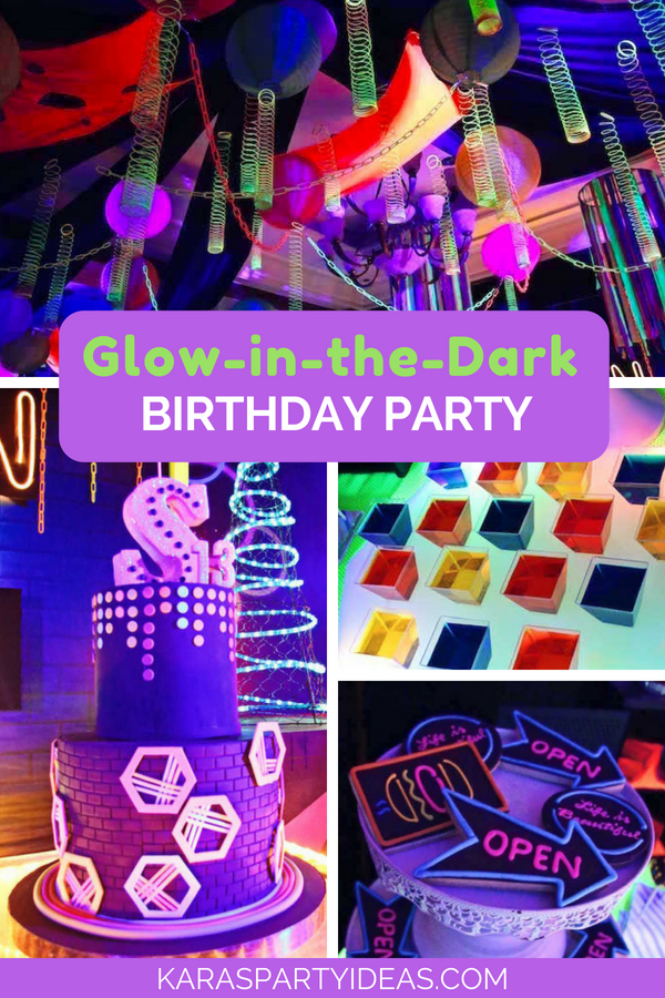 Glow-in-the-Dark Birthday Party via Kara's Party Ideas - KarasPartyIdeas.com