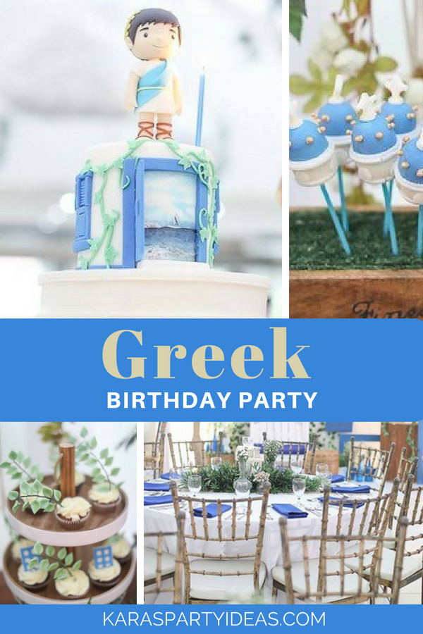 Greek Birthday Party via Kara's Party Ideas - KarasPartyIdeas.com