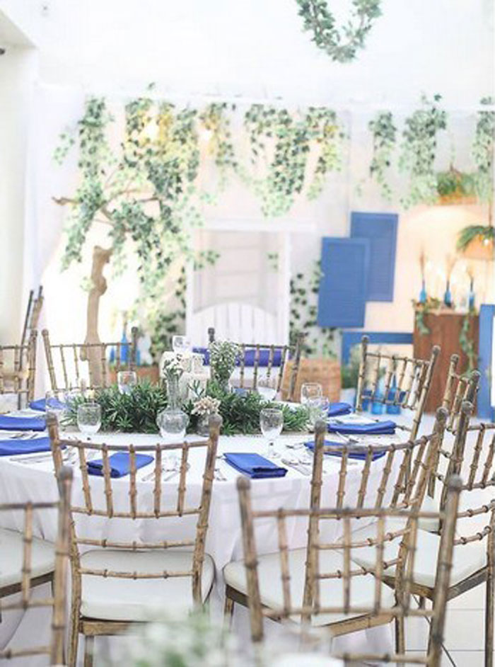 Greek Guest Table from a Greek Inspired Birthday Party on Kara's Party Ideas | KarasPartyIdeas.com (8)