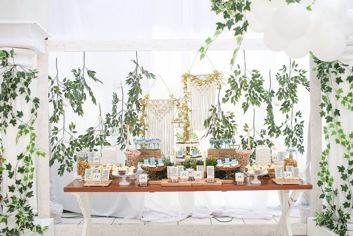 Greek Themed Banquet Dessert Table from a Greek Birthday Party on Kara's Party Ideas | KarasPartyIdeas.com (19)