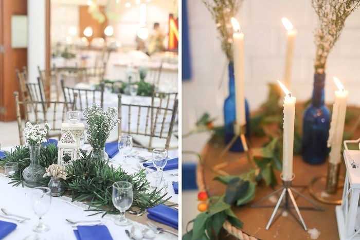 Greek Themed Guest Table Centerpiece from a Greek Inspired Birthday Party on Kara's Party Ideas | KarasPartyIdeas.com (18)
