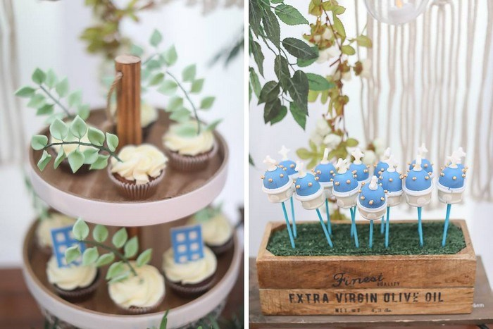 Greek Themed Cupcakes + Cake Pops from a Greek Birthday Party on Kara's Party Ideas | KarasPartyIdeas.com (15)