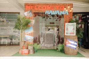 Tropical Party Entrance from a Havana Nights Birthday Party on Kara's Party Ideas | KarasPartyIdeas.com (9)