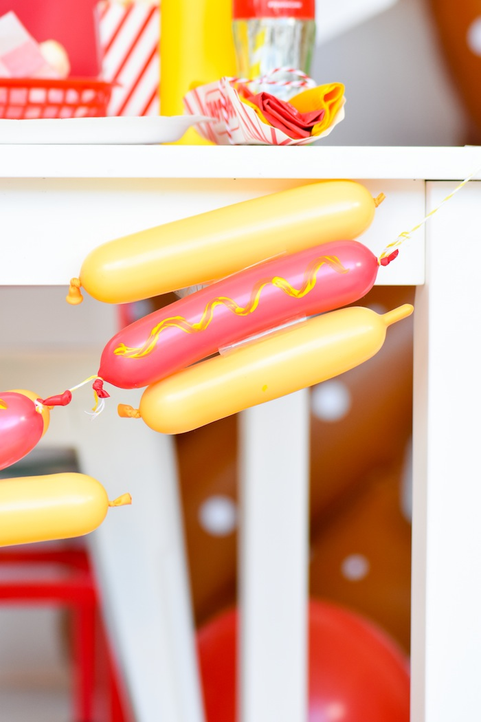Hot Dog themed party with FREE printables! By Kara's Party Ideas for Canon Printers. Toppers, signs, tags, hats, banner and more! -9