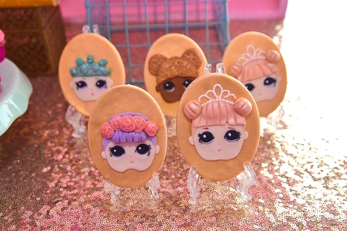 L.O.L. Surprise Doll Cookies from an L.O.L. Surprise Birthday Party on Kara's Party Ideas | KarasPartyIdeas.com (13)