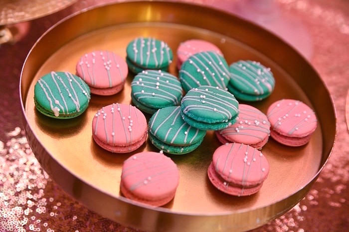 Pink + Teal Macarons from an L.O.L. Surprise Birthday Party on Kara's Party Ideas | KarasPartyIdeas.com (12)