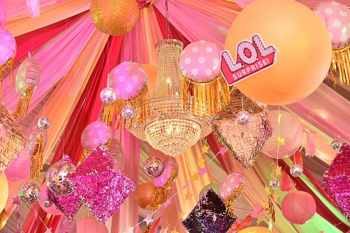 Chandelier Ceilingscape from an L.O.L. Surprise Birthday Party on Kara's Party Ideas | KarasPartyIdeas.com (6)
