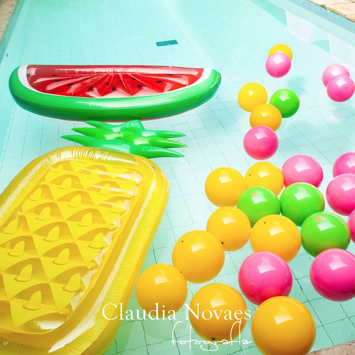 Fruit Floaties from a L.O.L. Surprise! Pool Party on Kara's Party Ideas | KarasPartyIdeas.com (5)