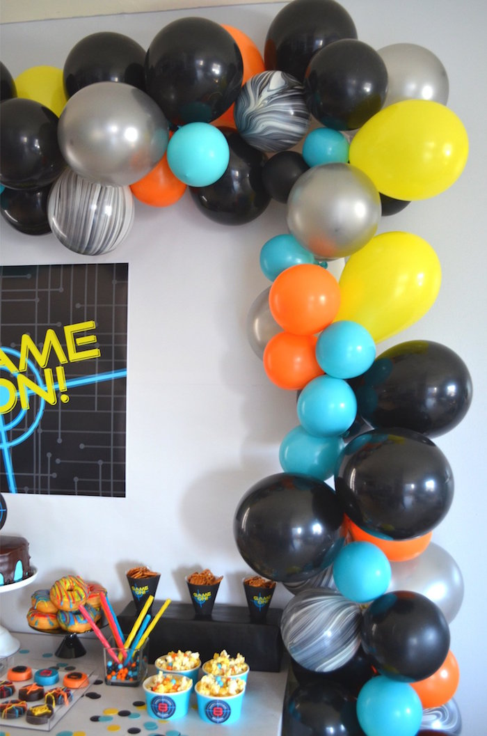 Balloon Arch from a Laser Tag Birthday Party on Kara's Party Ideas | KarasPartyIdeas.com (18)
