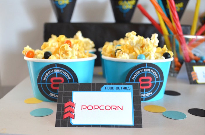Target Popcorn From A Laser Tag Birthday Party On Karas Ideas