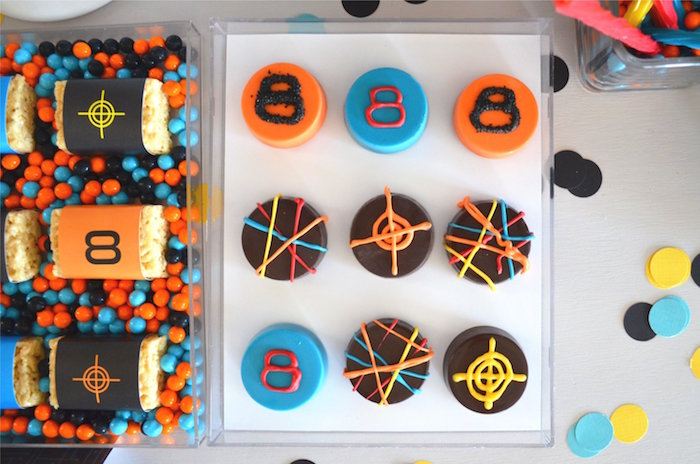 Laser Tag Oreos from a Laser Tag Birthday Party on Kara's Party Ideas | KarasPartyIdeas.com (14)