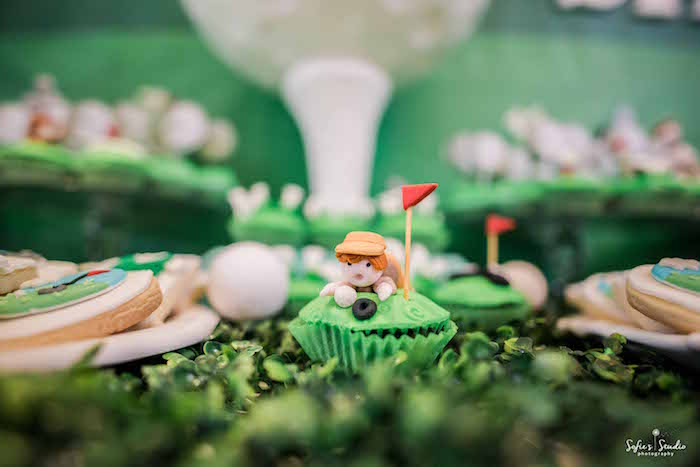 Golfer Cupcake from a Little Golfers Golf Birthday Party on Kara's Party Ideas | KarasPartyIdeas.com (17)
