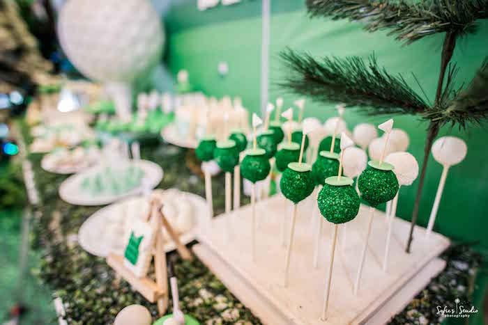 Golf Cake Pops from a Little Golfers Golf Birthday Party on Kara's Party Ideas | KarasPartyIdeas.com (15)
