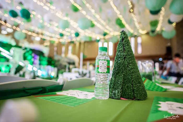 Table Decor from a Little Golfers Golf Birthday Party on Kara's Party Ideas | KarasPartyIdeas.com (12)
