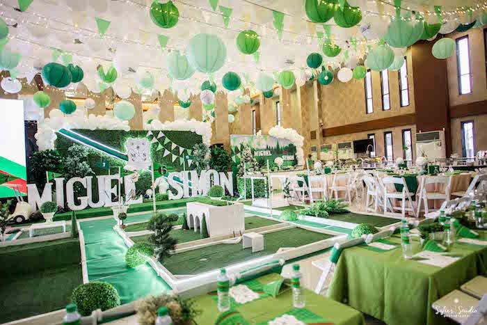 Mini Golf Course from a Little Golfers Golf Birthday Party on Kara's Party Ideas | KarasPartyIdeas.com (3)
