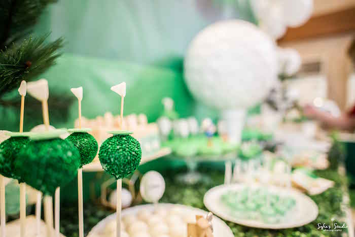 Golf Cake Pops from a Little Golfers Golf Birthday Party on Kara's Party Ideas | KarasPartyIdeas.com (20)