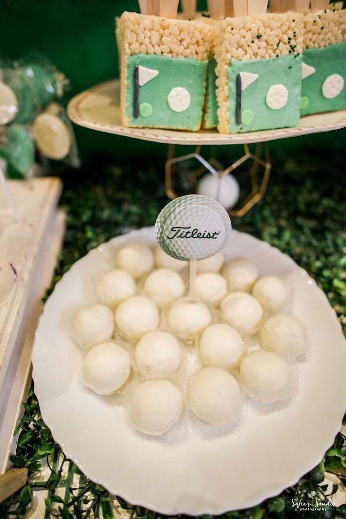 Golf Ball Truffles from a Little Golfers Golf Birthday Party on Kara's Party Ideas | KarasPartyIdeas.com (18)