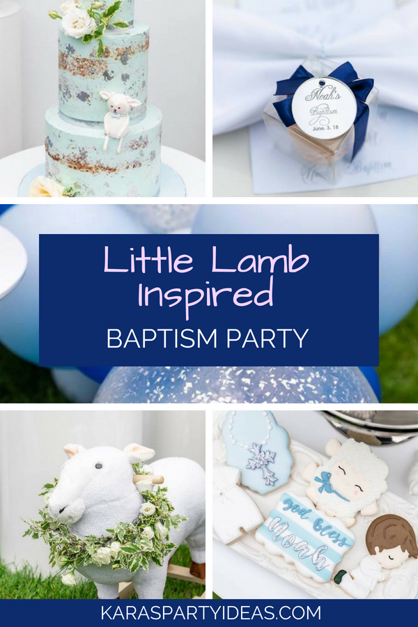Little Lamb Inspired Baptism Party via Kara_s Party Ideas - KarasPartyIdeas.com
