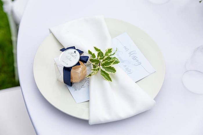 Table Setting from a Little Lamb Inspired Baptism Party on Kara's Party Ideas | KarasPartyIdeas.com (22)