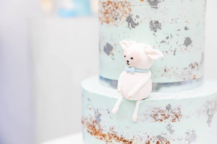 Little Lamb Cake Topper from a Little Lamb Inspired Baptism Party on Kara's Party Ideas | KarasPartyIdeas.com (16)