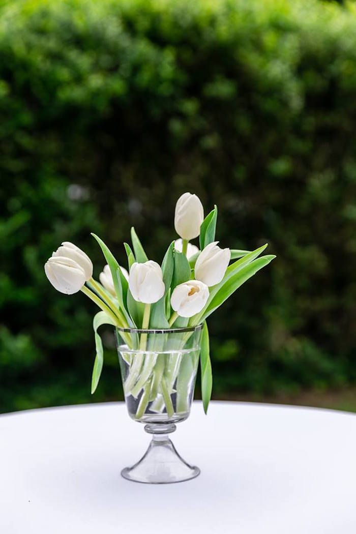 Tulip Blooms from a Little Lamb Inspired Baptism Party on Kara's Party Ideas | KarasPartyIdeas.com (13)