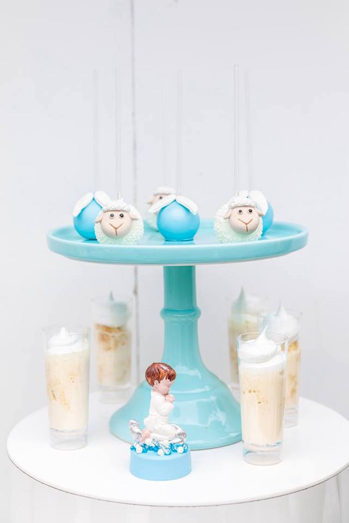Cake Pops & Shooters from a Little Lamb Inspired Baptism Party on Kara's Party Ideas | KarasPartyIdeas.com (12)