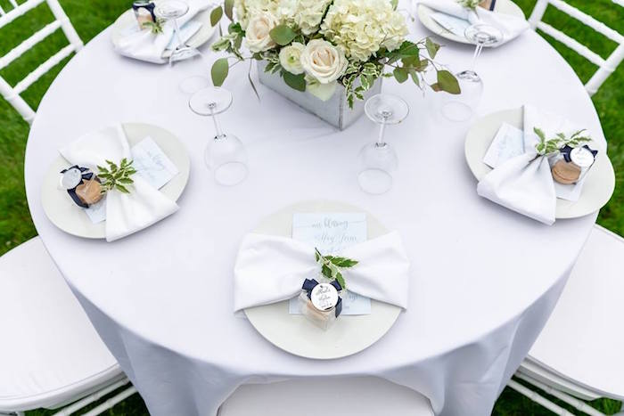 Table Settings from a Little Lamb Inspired Baptism Party on Kara's Party Ideas | KarasPartyIdeas.com (11)